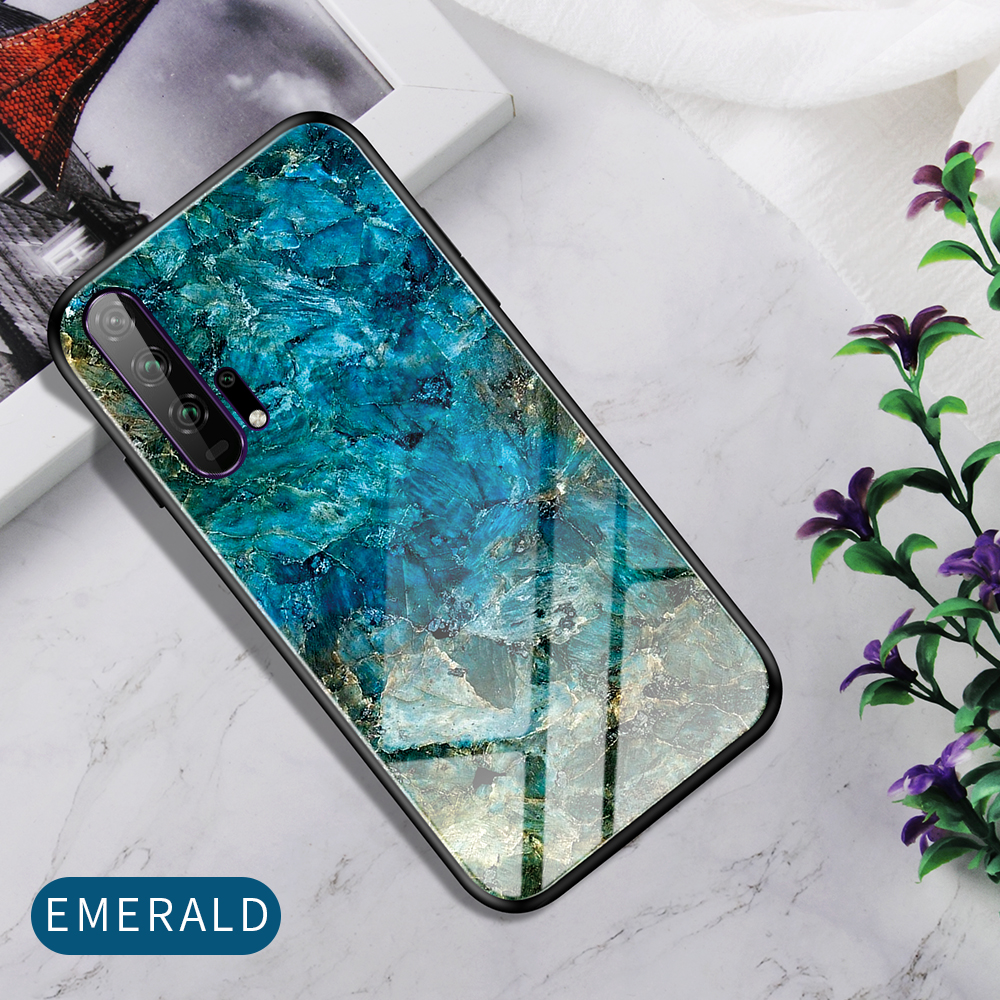 H5973241104b548eeb7387d4ae8fd8e84Q Phone Case for Huawei Honor 20s 20 Case Marble Tempered Glass Soft Tpu Frame Back Case for Huawei Honor 20s Honor 20 Pro Case