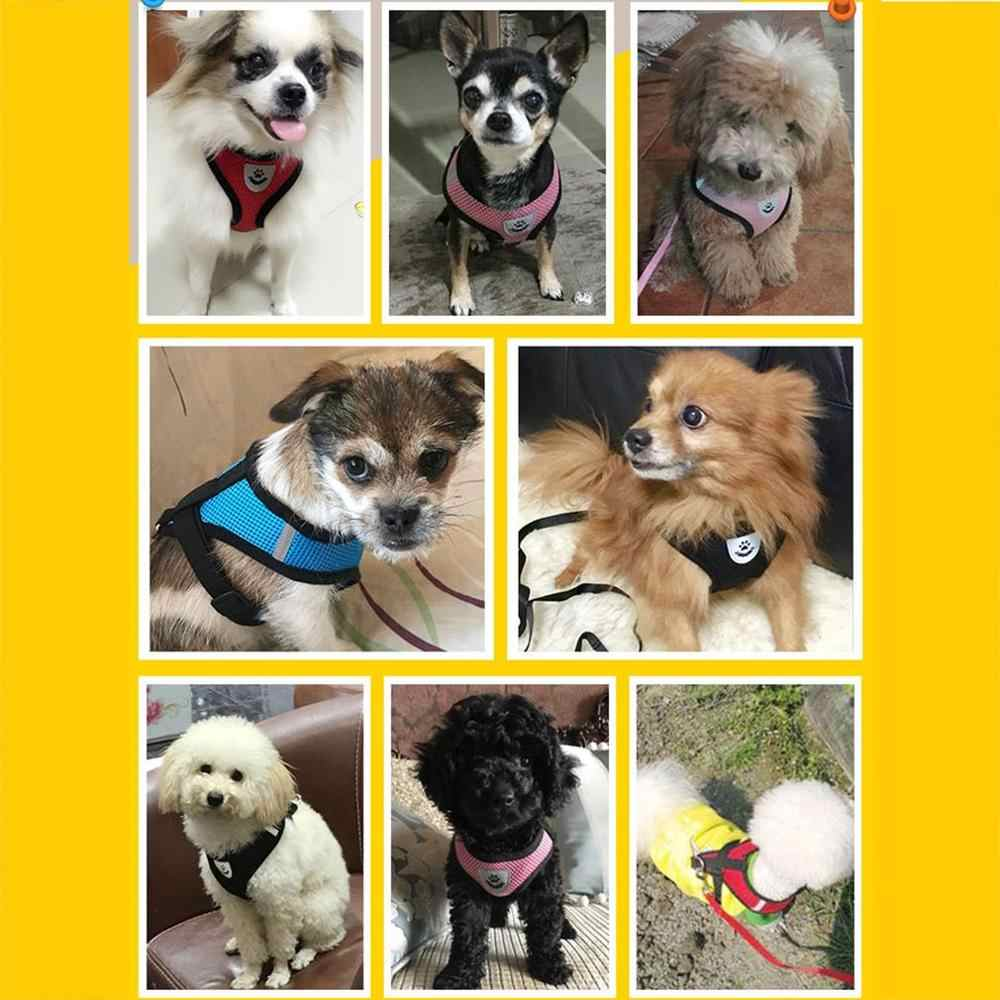 Arnés de perro ajustable cachorro perros mascota chaleco para correr pequeño mediano grande acolchado ajustable mascota cachorro perros suave chaleco