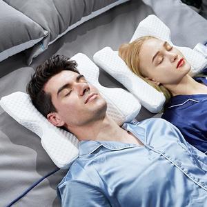 Image 4 - Almohada de espuma de rebote lento curvo para parejas, almohada de memoria antipresión para la mano, entumecida y protección del cuello y los brazos muertos, siesta en la oficina