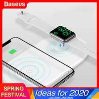 Baseus Qi Caricatore Senza Fili Per Apple Orologio 4 3 2 1 iWatch 2in1 Veloce Wireless Pad di Ricarica Per il iPhone 11 pro XS Max X Samsung S10