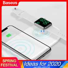 Baseus Qi Wireless Charger For Apple Watch 4 3 2 1 iWatch 2in1 Fast Wireless Charging Pad For iPhone 11 Pro XS Max X Samsung S10
