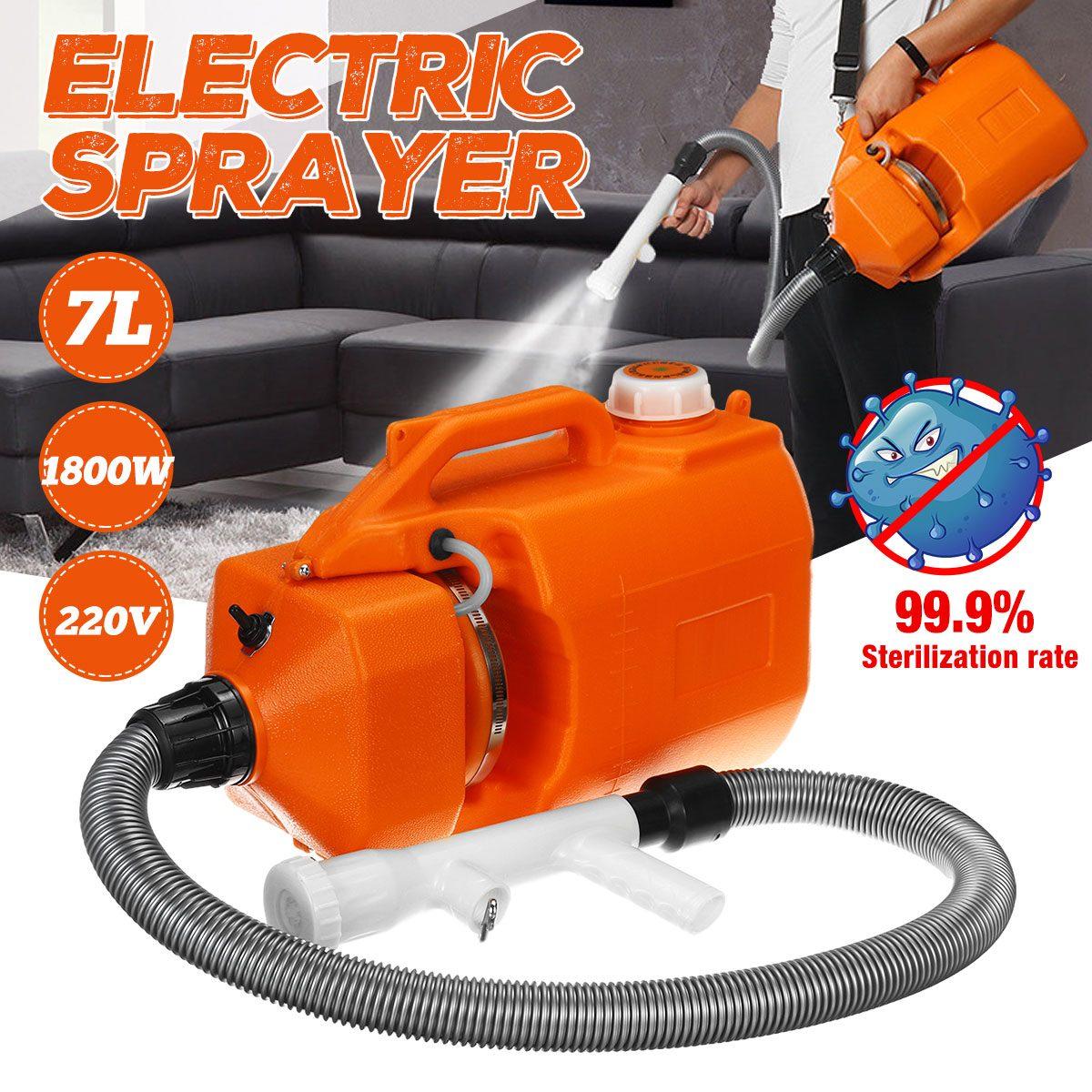 1800W 7L 220V Electric ULV Sprayer Fogger Machine Cold Mosquito Fogging Machine Ultra Low Capacity Fogger Disinfection Funnel