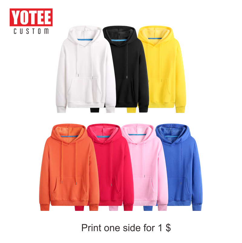 YOTEE Hoodies Sweatshirts 2019 Autumn Winter Plus Size Long Sleeve Pocket Pullover Hoodie Female Male Casual Warm Hooded Sweats