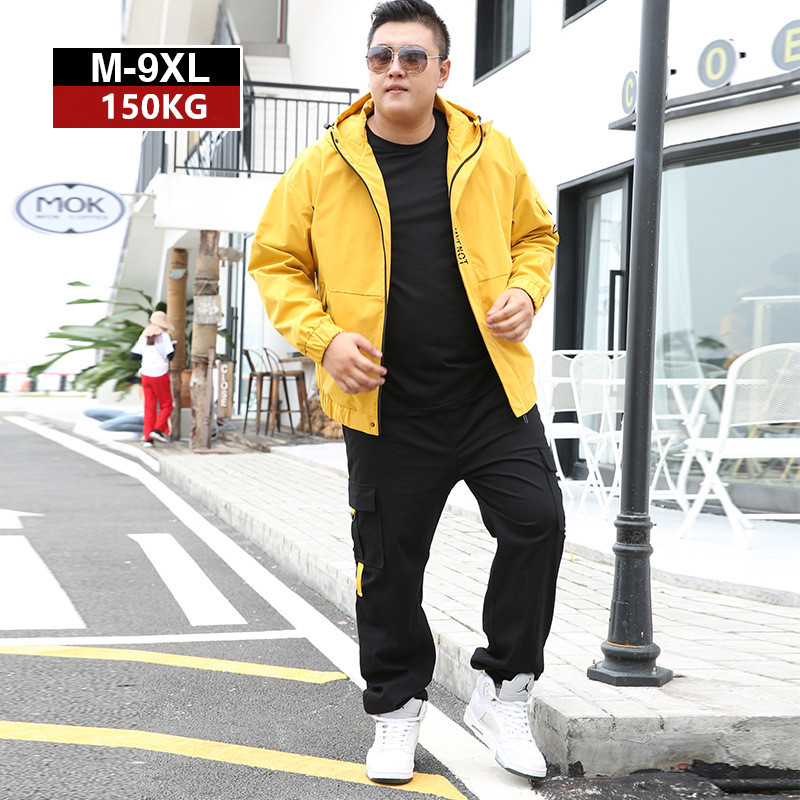 Tracksuit Men Jacket Hoodies Mens Sports Cargo Pants 2019 Tracksuits 2 Piece Set Plus Size 7XL 8XL 9XL Loose Trousers Clothes