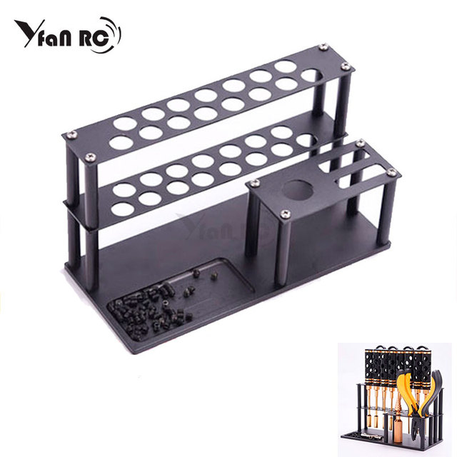 Maintenance tool base finishing screwdriver wrench storage rack for RC Trx4 scx10 Drone FPV Quadcopter Helicopter Model Repair