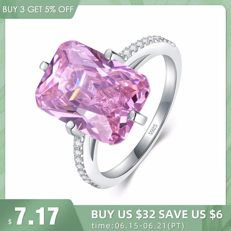 Modian, хит продаж, 100% Стерлинговое Серебро 925 пробы, роскошные кольца, модные розовые вечерние кольца с кристаллами для женщин, обручальные украшения для влюбленных, подарок