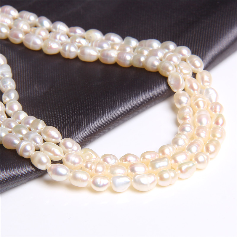 4-4.5mm White Irregular Real Natural Baroque Pearls Beads Loose Beads for women Jewelry Making Bracelet earring Necklace pearls