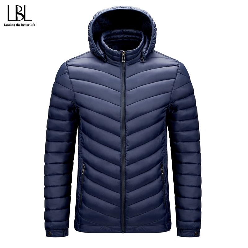 Parka Men Hooded Autumn Winter Jackets Male Quality Warm Outwear Slim Mens Coats Casual Windprrof Jackets Man Hat Detachable