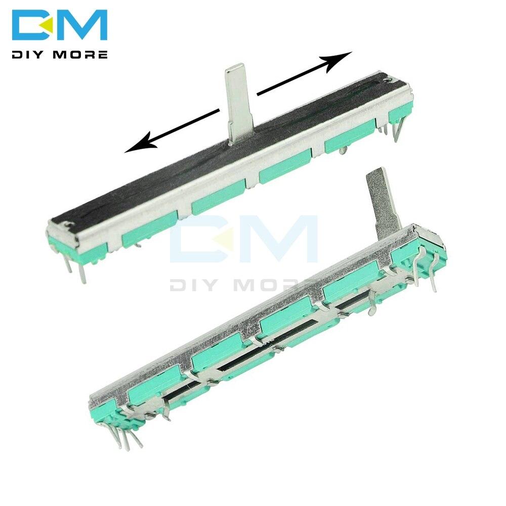 Резистор потенциометра B103 B10K Ом 10K 75 мм SC6080GH, регулировка скольжения, поворотная углеродная пленка