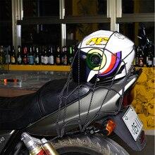 Универсальный мотоциклетный шлем для мотокросса, светоотражающий сетчатый ремень, прочная Светоотражающая сетка для багажника, фиксированная веревка для шлема, багажная сетка 40x40 см