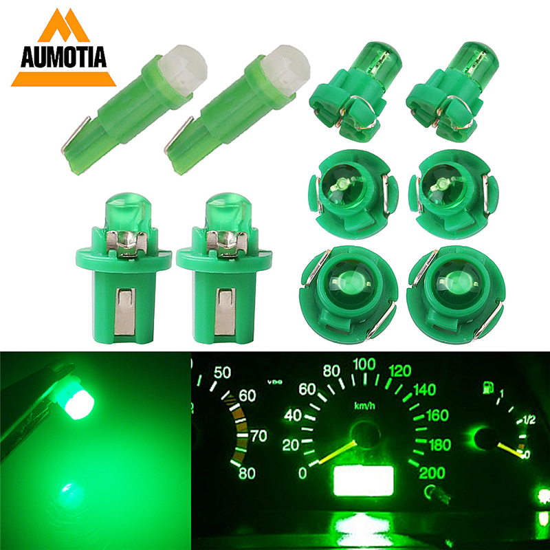 10x T3 LED T4.2 T4.7 B8.5 T5 LEDs Car Light Bulb COB LEDs Cluster Gauges Dashboard Instruments Panel Climate Base Lamp Light