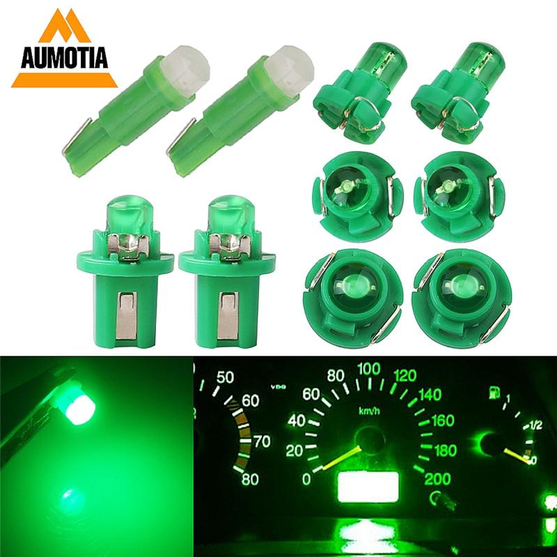 10x T3 LED T4.2 T4.7 B8.5 T5 LEDs Car Light Bulb COB LEDs Cluster Gauges Dashboard Instruments Panel Climate Base Lamp Light