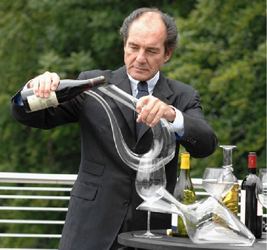 Creative  U Shape Glass Wine Shaker Crystal Harp Decanter Device Vessel. Modern Bar Decorative Craft Furnish