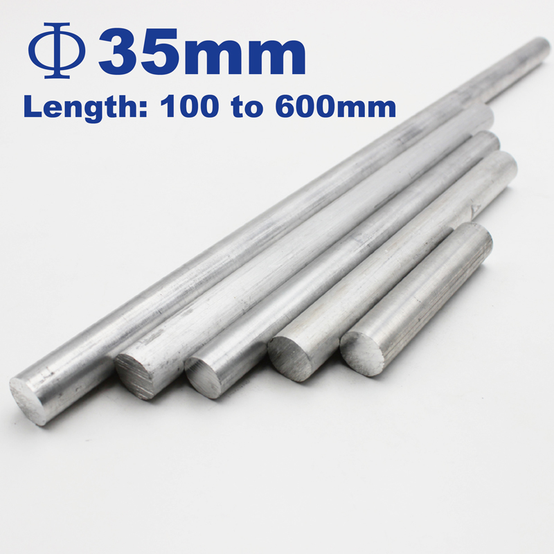 35mm Diameter Aluminum Round Bar/Rod Length 50mm To 600mm