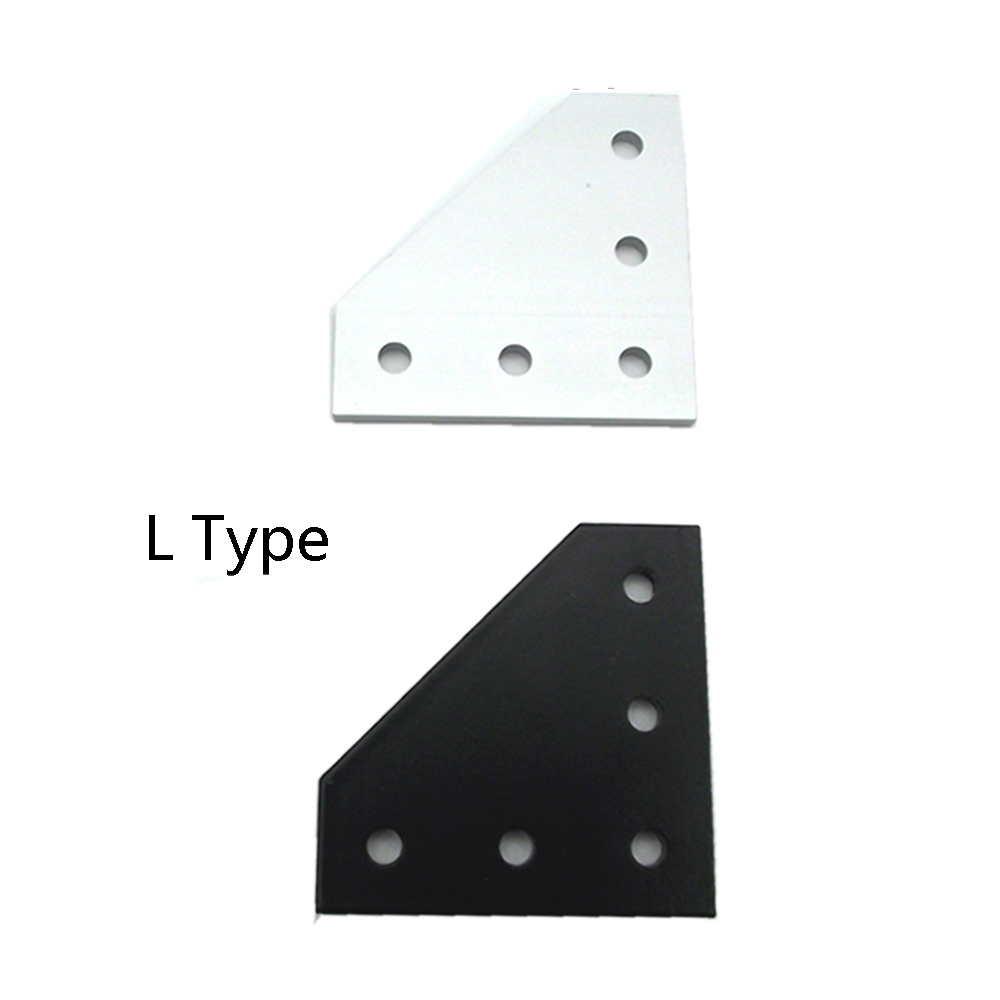 2020 / 3030 With 5 Hole L T Type 90 Degree Joint Board Plate Corner Angle Bracket Connection  For Aluminum Profile