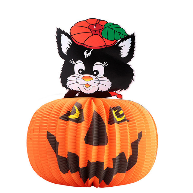 Festival Lantern Happy Halloween Colorful Party Pumpkin Lantern Toy Household Children Room Cute Pattern Decor Supplies #45