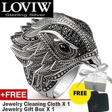 Elegante Falcon Cocktail Ring In 925 Sterling Zilver Trendy Cadeau Voor Vrouwen & Mannen, drop Verzending Stijl Gratis Verzending Fijne Sieraden