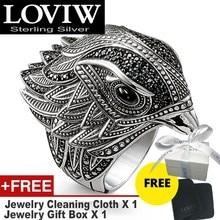 Zarif Falcon kokteyl yüzüğü 925 ayar gümüş moda hediye kadınlar & erkekler için, drop shipping stil ücretsiz kargo güzel takı