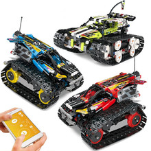 391pcs Technic RC Tracked Stunt Racer Building Blocks Toys Creator APP Remote Control Car for Children remote control rc stunt car