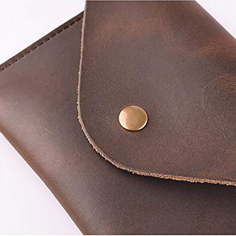 Top Grade Genuine Leather Coin Bag Change Headset Storage Bag Purse-Printed Logo
