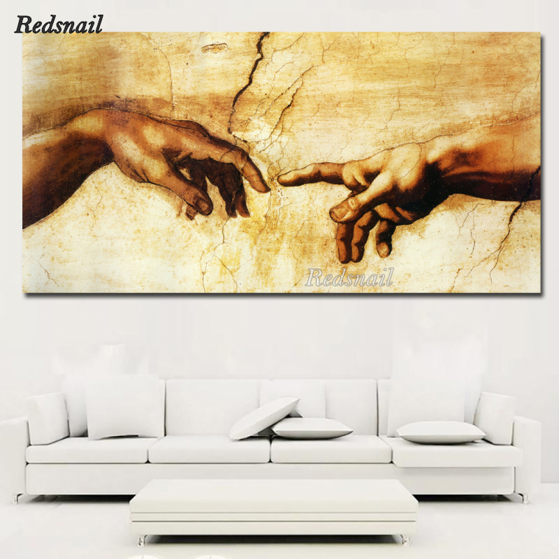 large Creation of Adam! Hand of god! Classical Religion 5D DIY Diamond painting Full Diamond embroidery mosaic Wall Art EE938