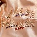 Женские серьги-подвески в виде вишни, с разноцветными кристаллами