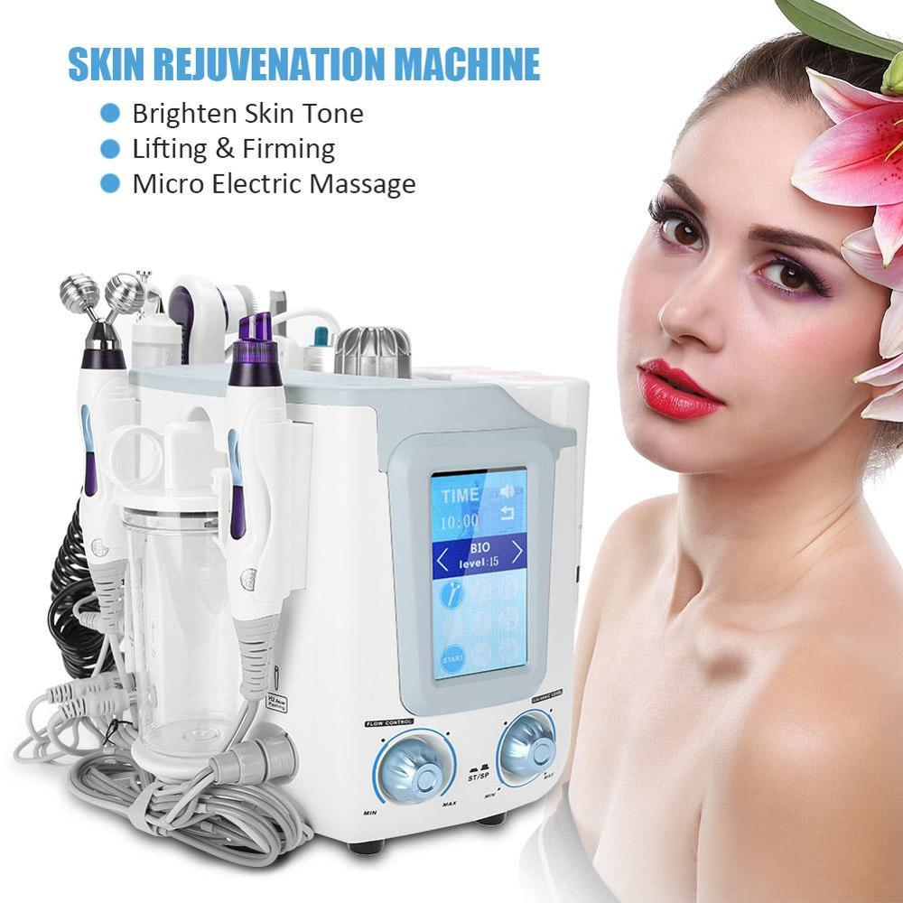 6-IN-1 Oxygen Bubble Hydro Facial Beauty Machine Face Skin Spa Vacuum Suction Blackhead Rejuvenation Remove Wrinkles Device