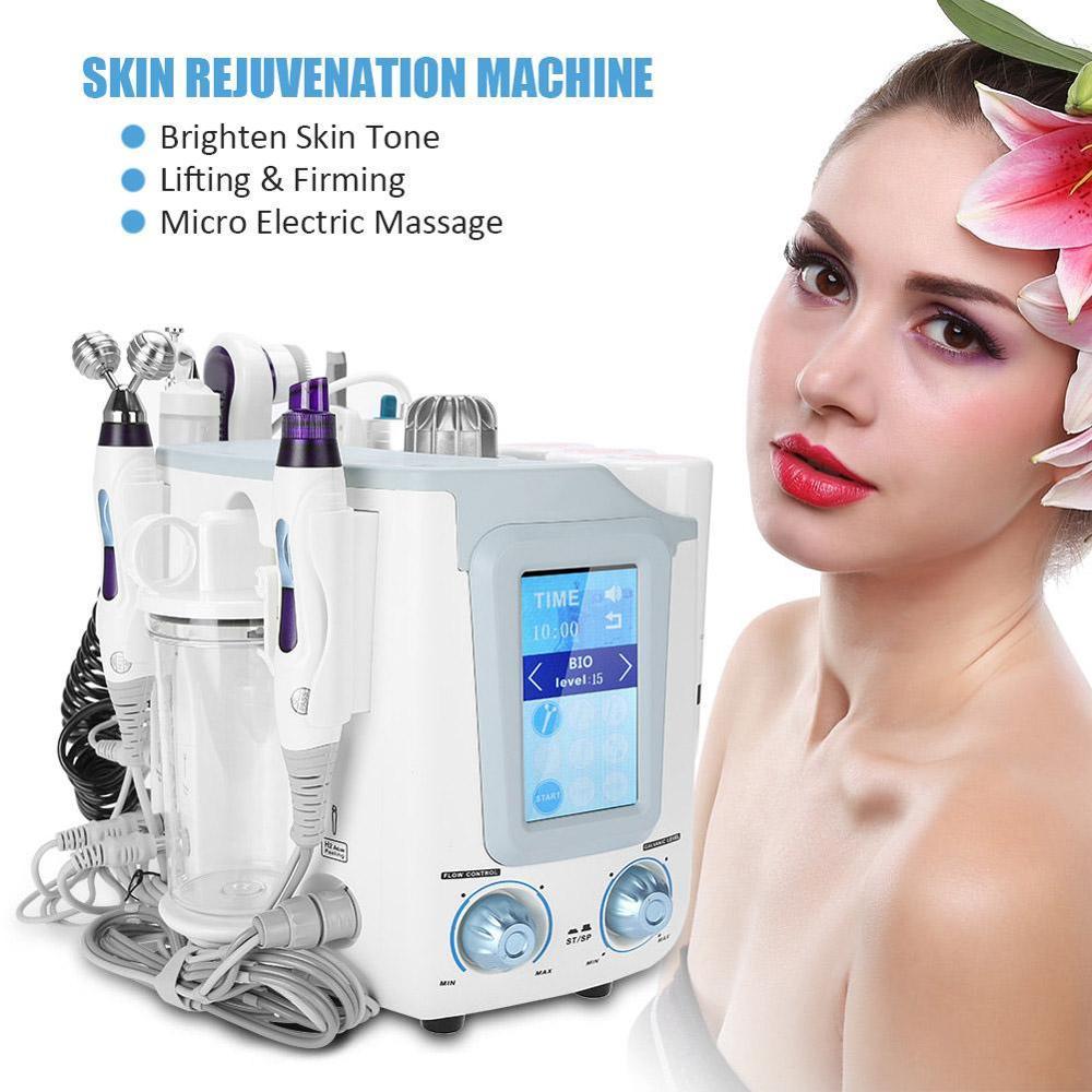 6-in-1 Hydra Facial Machine Oxygen Bubble Hydro Diamond Skin Spa Vacuum Suction Blackhead Rejuvenation Remove Wrinkles Machine