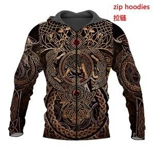Image 3 - Liumaohua mais recente moda viking guerreiro tatuagem 3d impresso camisas casuais impressão 3d hoodies/moletom/zíper homem mulher topos 005