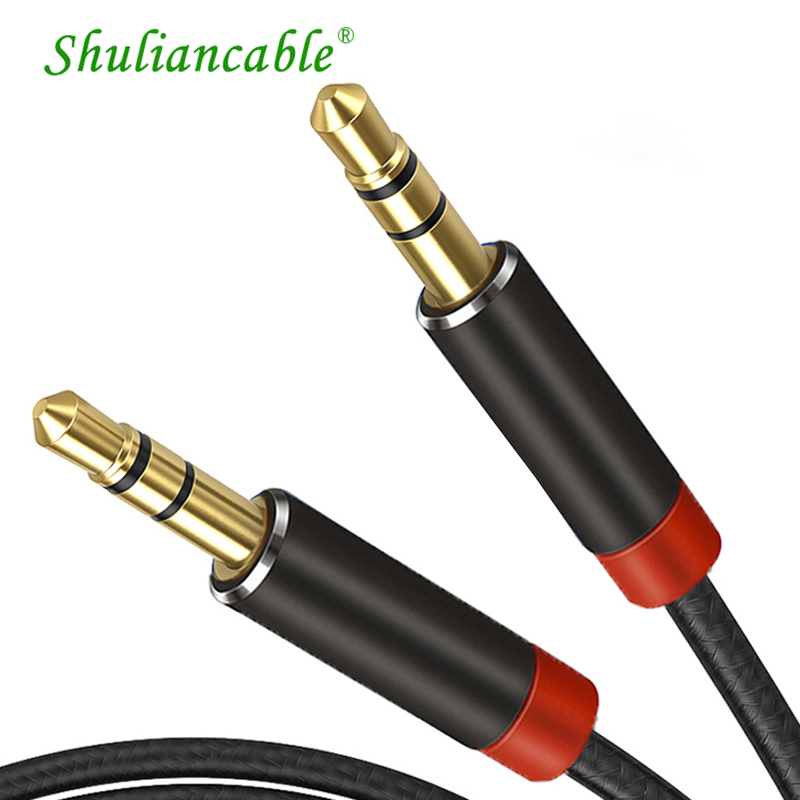 Shuliancable <font><b>3.5</b></font> <font><b>jack</b></font> cable Aux Audio Cable Male to Male 1m 2m <font><b>3m</b></font> 5m for Samsung S10 Car Headphone Speaker Wire Line Aux Cord image