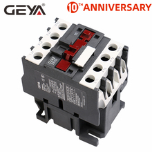 цена на GEYA CJX2-2510 3210 Magnetic 3Phase Contactor 1NO 25A 32A 220V or 380VAC  LC1D Contactor Din Rail Silver Contact