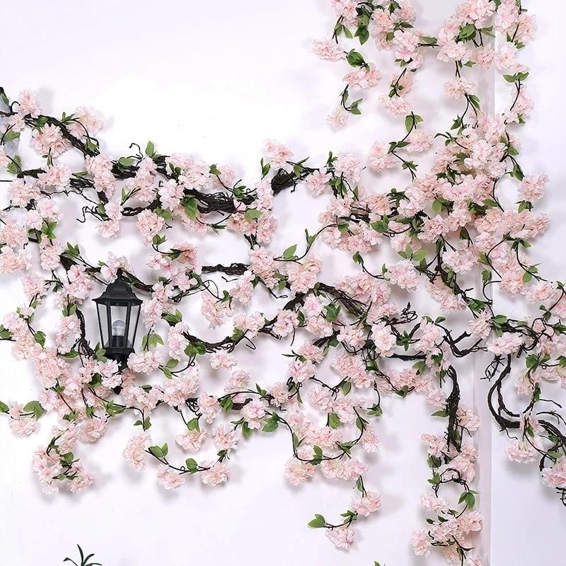 170 см искусственные ветки вишни Цветущая лоза Искусственные цветы сакура