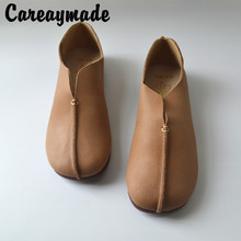 Careaymade-Real leather cowhide Vintage literary and artistic single shoe, old national style soft sole womens  shoes
