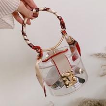 Transparent Ring Handbag 2020 New Ribbon Hard Shell Fashion Chain Korean Style Women
