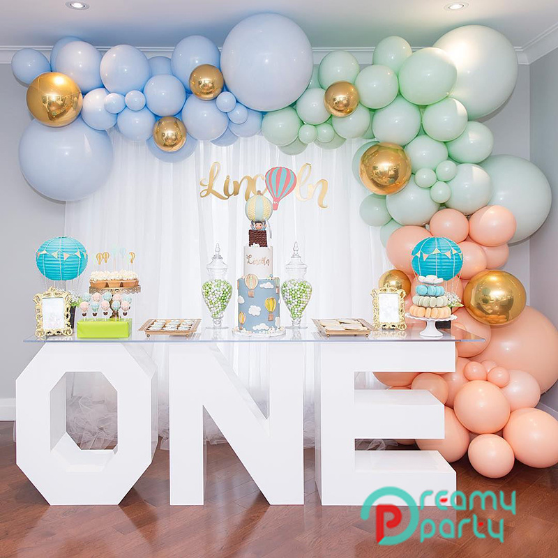 "10pcs5/"" 10/"" Pastel Peach Macaron Balloons Birthday Baby Shower Wedding Bridal"