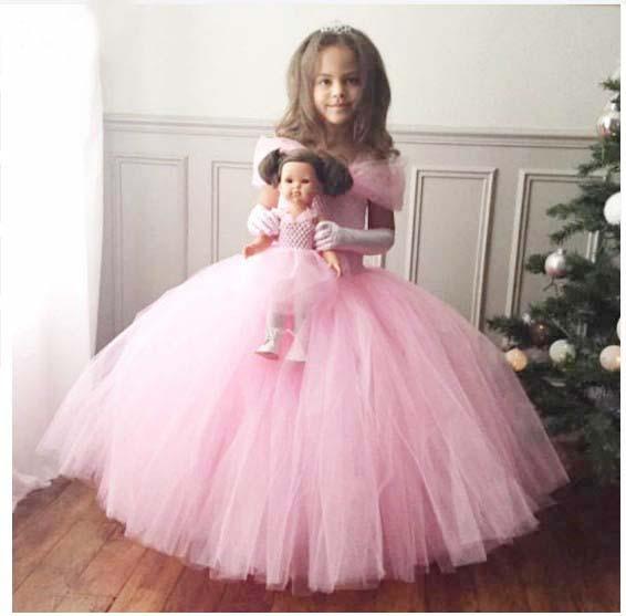 Fleurs Fille Bébé Fille Princesse Taufkleid Tütü Tutu Robe de mariée Dress