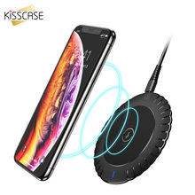 KISSCASE Qi Wireless Charger For Samsung Note 10 9 8 S10 Plus S9 S8 10W Wireless Fast Charger For iPhone XS XR X 8 plus xs max(China)