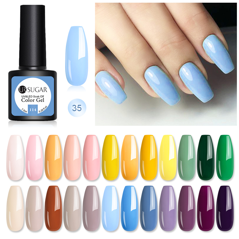 UR SUGAR Blue Gel Nail Polish UV Gel Nail Varnish Soak Off Matte Top Coat UV Led Nail Art For Manicures Gel Hybrid Paint