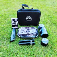 HIGHEST Tobacco Kit Metal Rolling Tray Plastic Airtight Herb Container Zinc Alloy Smoking Grinder King Size Rolling Machine