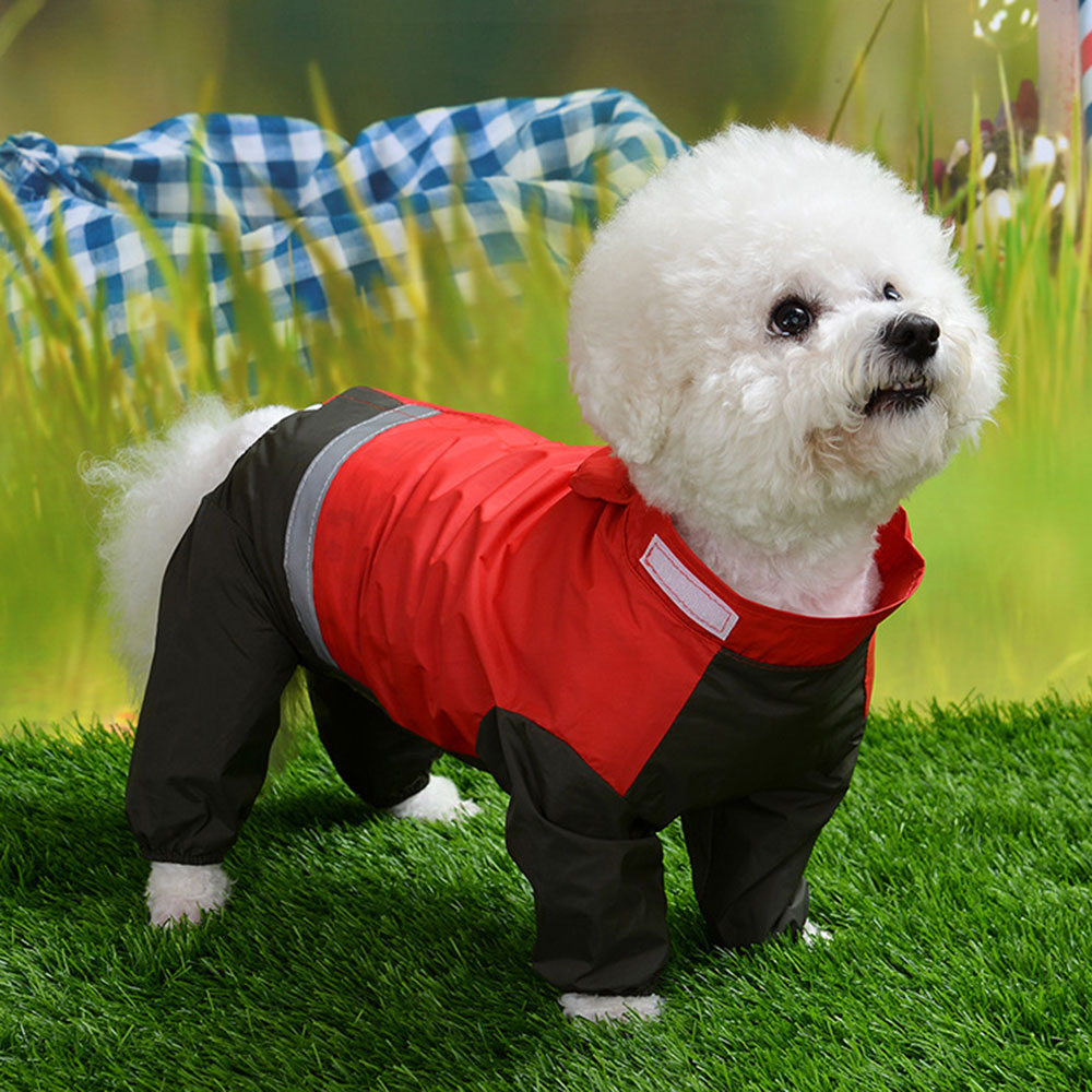 Pet Cat Dog Raincoat Hooded Puppy Small Dog Rain Coat Waterproof Jacket For Dogs Soft Breathable Mesh Dog Clothes 5