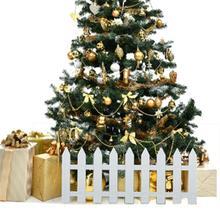 1 шт., белая Рождественская елка, пластиковая елка, забор для внутреннего двора, сада, сада, цветов, овощей, Белый декор