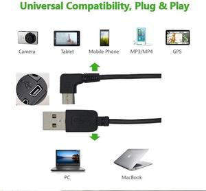Image 5 - USB A male to Mini USB B 5Pin Male Right Angle Adapter Data Charge Sync Cable for phones MP3 players tablets cameras