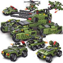 2021 710 adet tankı yapı taşları araç uçak erkek çocuk oyuncakları figürleri eğitici blokları askeri uyumlu tuğla