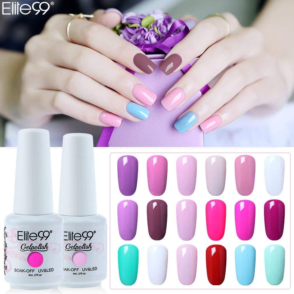 Elite99 8ml Classic Color UV Gel Polish Soak Off Gel Nail Polish Semi Permanent Hybrid Varnish Nail Art GelLak Enamel Lacquer
