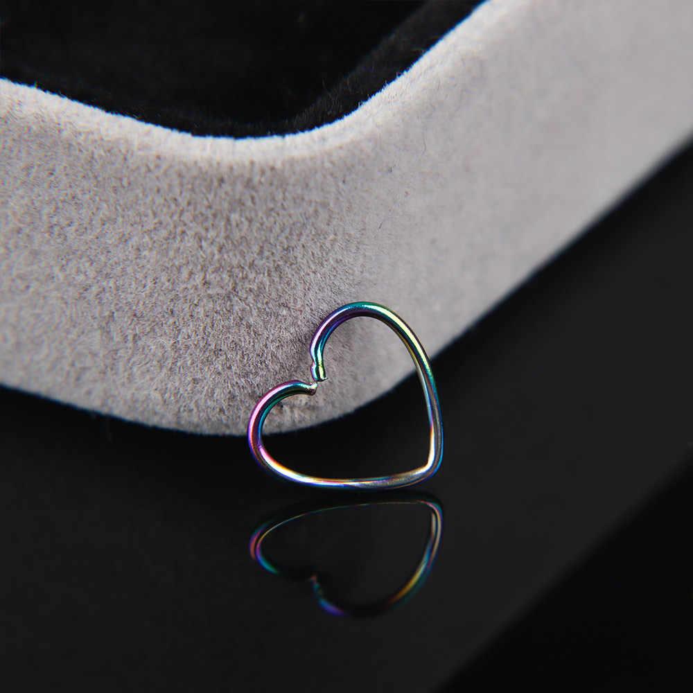 2 adet cerrahi çelik Daith kalp kulak burun halkası kıkırdak Tragus piercing Hoop dudak burun halkaları Orbital kulak damızlık Helix göbek takısı