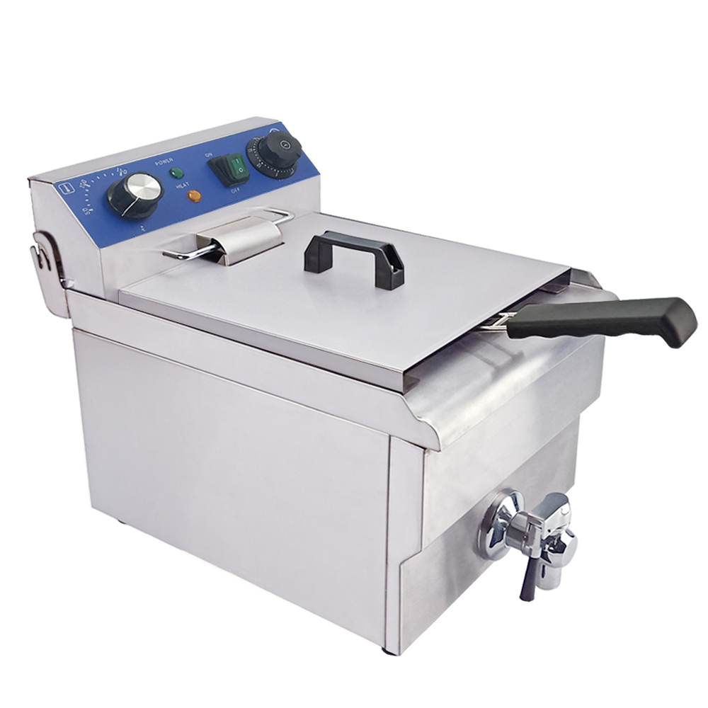 2.5KW//5KW Electric Deep Fat Fryer Stainless Steel Healthy Food Frying 16A Plug