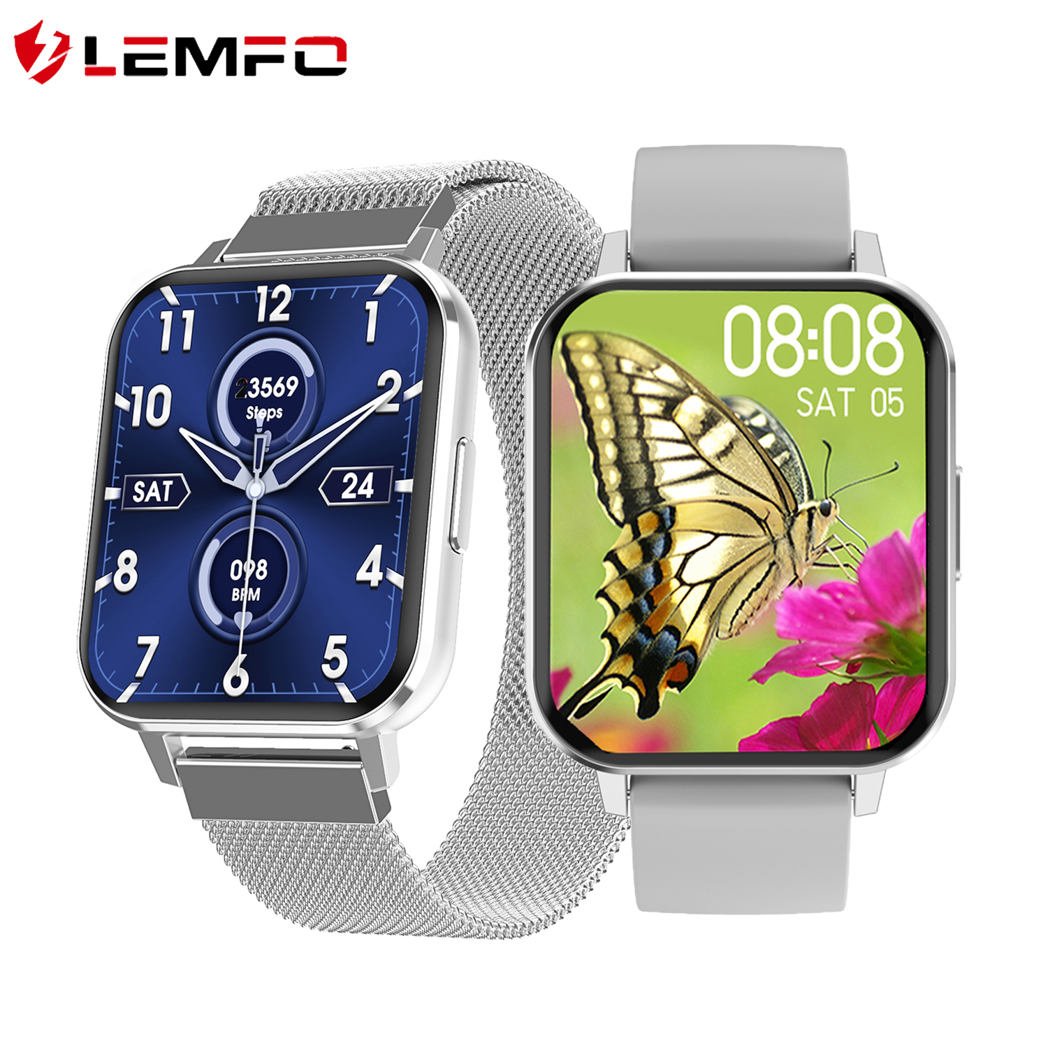 2020 Ultra-thin Alloy Case 1 78 inch Smart watch men custom dial ECG heart rate blood pressure smartwatch for Android ios phone