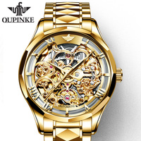 OUPINKE mens watches top brand luxury sapphire clock skeleton watch best sellers for rolexable men mechanical wristwatches