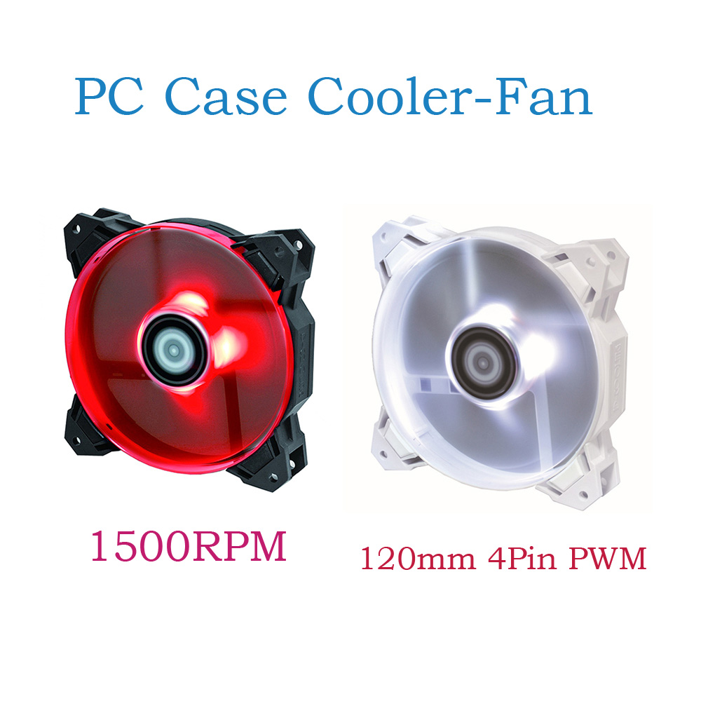 Air-cooled Water-cooled Radiator Chassis Silent <font><b>Fan</b></font> LED <font><b>120mm</b></font> 4Pin <font><b>PWM</b></font> <font><b>Fan</b></font> With De-vibration Rubber,1500RPM PC Case Cooler-<font><b>Fan</b></font> image