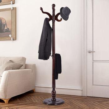 Costway 71'' Wood Hat Coat Rack Hanger Tree Stand Hallway Entry Home Furniture W/ 11Hooks